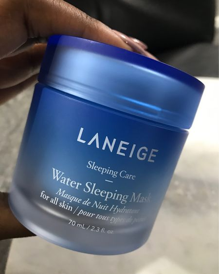 #Laneigegiftedme! As the winter season is approaching, frigid temperatures can leave the skin dehydrated. The Water Sleeping Mask is great as it's formulated with highly concentrated ionized mineral water that delivers intense doses of moisture to hydrate parched skin!! It is infused with orange flower, rose sandalwood, and apricot promise extracts which relaxes , brightens and purifies fatigue skin. Just simply apply evenly across the face , leave on overnight, and rinse in the morning. The skin be radiant, look refreshed and feel very soft! You can now find this product @sephora. #hydratewithlaneige #isleptwithlaneige #octolyFamily   http://liketk.it/2HnBV #liketkit @liketoknow.it