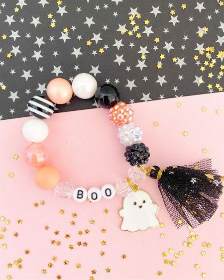 Cute Halloween Bracelet! Toddler and kids!  Toddler Halloween finds Etsy find Halloween small shop Etsy Halloween    #LTKbaby #LTKkids #LTKstyletip