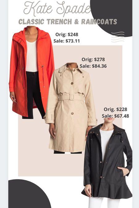 Timeless closet staples: Kate Spade classic raincoats & trench coats.   #LTKstyletip #LTKunder100 #LTKsalealert