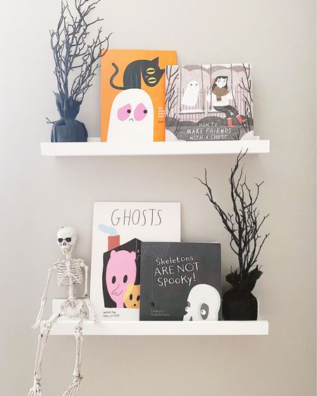 Halloween Book Shelf 👻 Avri wanted to read all the books right away. Thanks to the Skeletons are not Spooky book she is fascinated that we have bones inside our bodies. These books are so much fun and could pair with so many cute craft and art lessons 👩🎨 Besides the trees from the Target dollar spot years ago everything is linked plus more books I have on the way. Shop your screenshot of this pic with the LIKEtoKNOW.it shopping app http://liketk.it/2W7EA #liketkit #LTKfamily #LTKkids @liketoknow.it @liketoknow.it.family @liketoknow.it.home