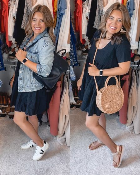 Two ways to wear an LBD. Little black dress from Target. Styled sporty and summery! @liketoknow.it http://liketk.it/3gfjS #liketkit @target @targetstyle #targetstyle summer dress, summer dresses, sundress, mini dress, affordable dresses — only $25! #LTKunder50 #LTKunder100 #LTKstyletip