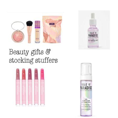Beauty gifts and stocking stuffers on sale / shape tape/ juicy lip gloss/ self tanner   #LTKGiftGuide #LTKunder50 #LTKbeauty