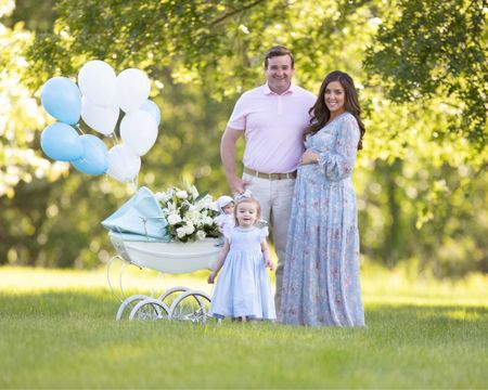 """I wish I could link more from this photo! Linked the pink version of Georgie's doll pram. Blue (""""Sweet Pea"""") is available on Silver Cross website. Her dress is by Charlotte sy Dimby and her baby doll is from Feltman Brothers. @liketoknow.it http://liketk.it/3gXH9 #liketkit #LTKbaby #LTKfamily #LTKkids"""