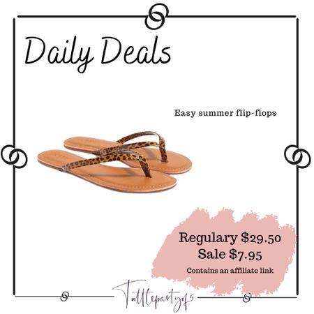 Easy summer flip-flops   http://liketk.it/3ieRO #liketkit @liketoknow.it #LTKsalealert #LTKunder50 #LTKshoecrush