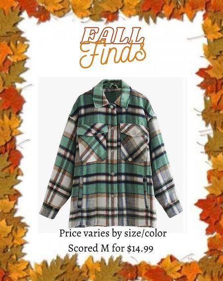Plaid flannel shacket  #amazonfashion #amazonfind #ltkfall #ltkunder20   #LTKsalealert #LTKstyletip #LTKSeasonal