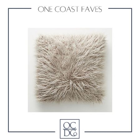 How gorgeous is this faux fur pillow that's featured on our guest bedroom mood board!? #LTKhome