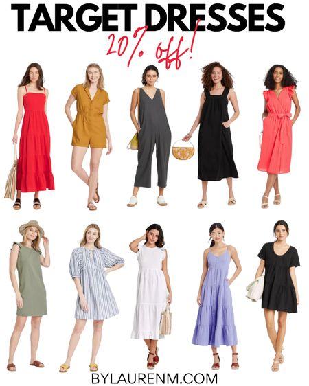 Target sale! All @target dresses are 20% for three days online only! Sundresses, summer dresses, summer jumpsuit, red dress, white dress. @liketoknow.it http://liketk.it/3i3Lb #liketkit #LTKunder50 #LTKsalealert @targetstyle