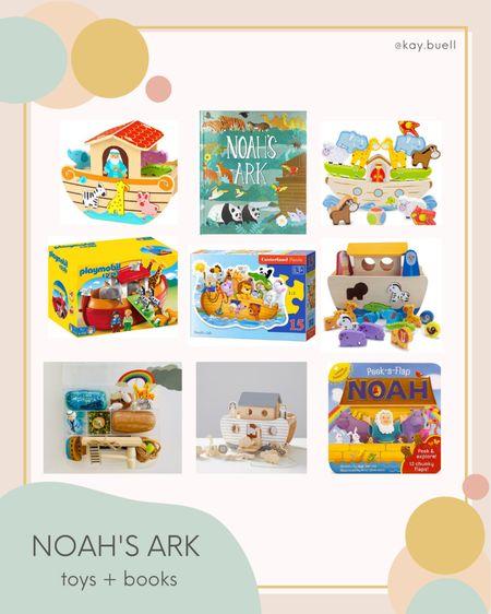 Noah's ark toys and books for the kiddos 💕   #LTKkids #LTKfamily #LTKGiftGuide