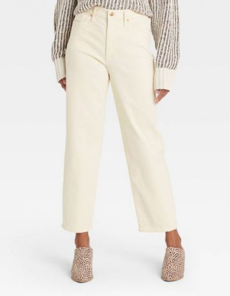 Loving these target style pants for a fall outfit! I personally would size down one for a more fitted look in the thighs/butt! Super affordable!   #LTKstyletip #LTKunder50 #LTKSeasonal