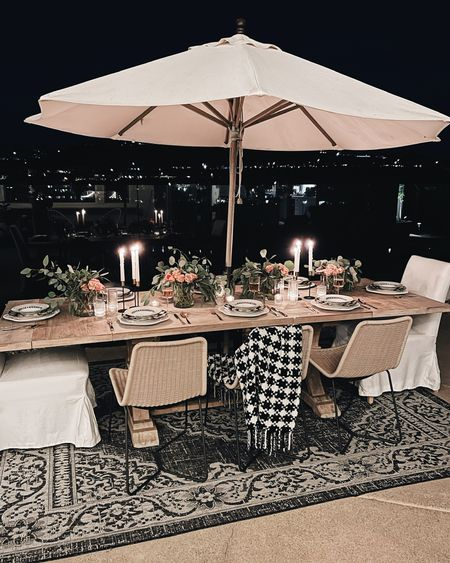 Table setting, outdoor decor, stylinaylinhome  Follow my shop on the @shop.LTK app to shop this post and get my exclusive app-only content!