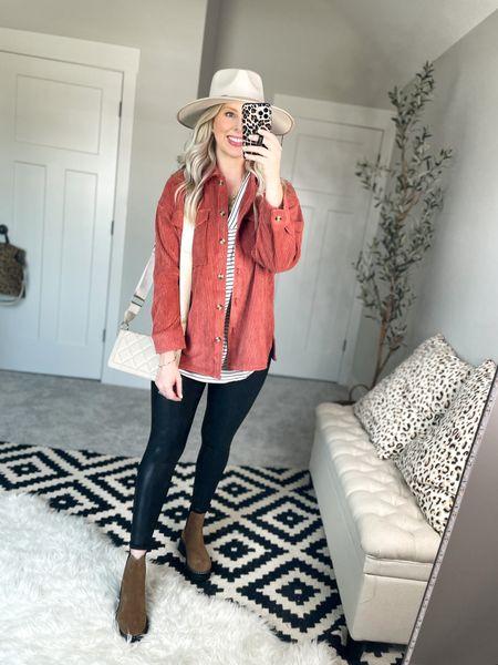 Pumpkin spice shirt jacket   #LTKsalealert #LTKshoecrush #LTKstyletip