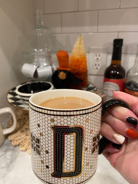 Anthropology initial mug! Great gift under $15🎁🎁🎁  Perfect alone or with hot coco, coffees or teas🎁🎁🎁 .   #LTKunder50 #LTKhome #LTKGiftGuide