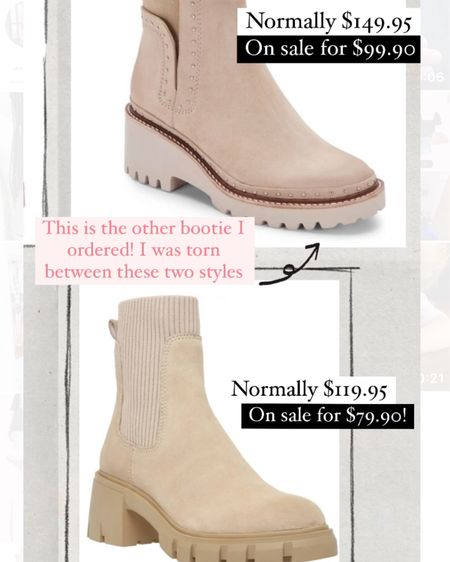 Just ordered some new taupe booties but was torn between these two! I ordered the top ones over the sock booties for this fall http://liketk.it/3jXsg @liketoknow.it #liketkit #LTKshoecrush #LTKsalealert #LTKunder100 #nsale #nordstromsale