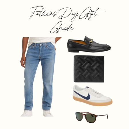 Fathers Day Gift Guide 2021, for the Fashion Forward Dad, Levi Jeans, Gucci Loafers, Bottega Veneta Wallet, Nike Sneakers, Persol Sunglasses! http://liketk.it/3hbWT #liketkit @liketoknow.it