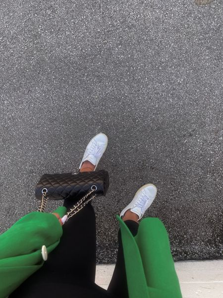 Sunday fit 🥦 these ysl sneakers are one of my fav designer purchases EVER! They go with everything + they're actually so comfortable!   Ootd, Green Blazer, Green Outfit, Casual Outfit, Leggings Outfit, Sneakers, YSL, Chanel, Zara, Revolve, Summer Fashion, Fall Fashion, Transitional Fashion, Transitional Outfit   #LTKstyletip #LTKitbag #LTKunder100