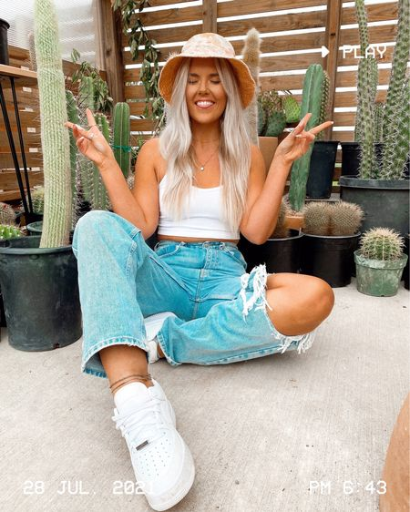 urban outfitters // summer style // bucket hat // white sneakers // transitional style // casual style   #LTKstyletip #LTKunder50 #LTKunder100