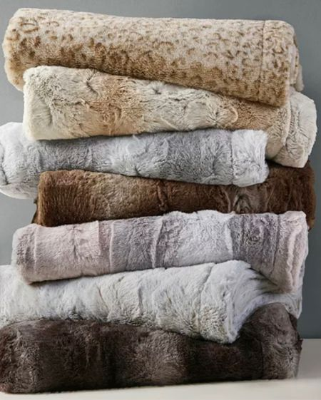 These fur throws are only $20.99 today only!  I have one in my living room and love it so much. It's super soft    #LTKhome #LTKunder50