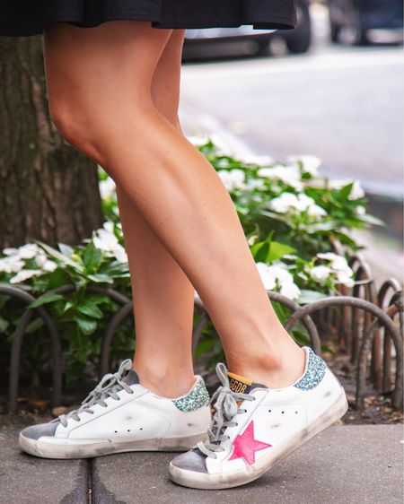 Golden Goose sneakers on SALE! They run true to size for me but my whole review is on www.amybelievesinpink.com 🤩 #GoldenGoose #GoldenGoosesneakers   #LTKsalealert #LTKshoecrush