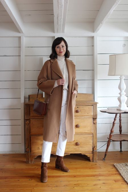 A recent look on the  Style Journal.   Coat - The Curated (review on the blog) Turtleneck / Boots / Jeans - Old Bag - A.P.C.    #LTKSeasonal
