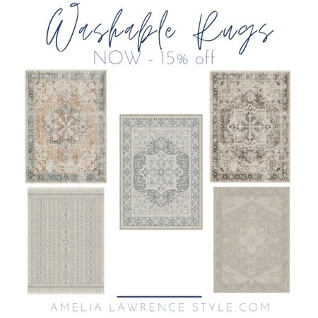 I LOVE these rugs. We have two of them and if you have kids and let's these are great.  I have one in our family room and one at the front door.  They look pretty and wash up perfectly!   Spring sale, spring, home decor, rugs, family room   #LTKhome #LTKSpringSale #LTKSeasonal