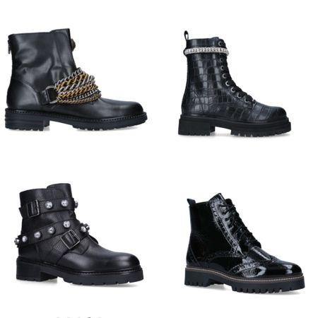 Combat boots! Here my favorites from Kurt Geiger  #LTKSeasonal #LTKshoecrush