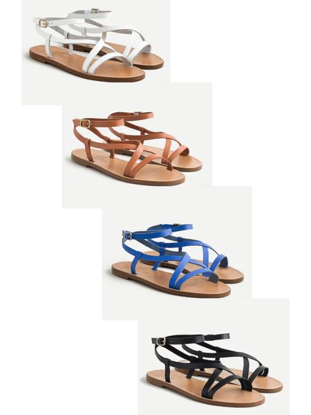 The perfect leather summer sandal that's now on sale! Save an extra 60% with code SALEONSALE! They run true to size.  . . . J.crew, jcrew, under 50, on sale, jcrew sale, summer sale, leather sandals, wrap sandals, blue sandals, white sandals, nude sandals, summer sandal #LTKunder50 #LTKunder100 #LTKsalealert #liketkit @liketoknow.it http://liketk.it/3kl7B