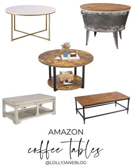 Amazon coffee tables!!  Lolly Jane Blog | #LollyJaneBlog   #LTKunder50 #LTKunder100 #LTKhome