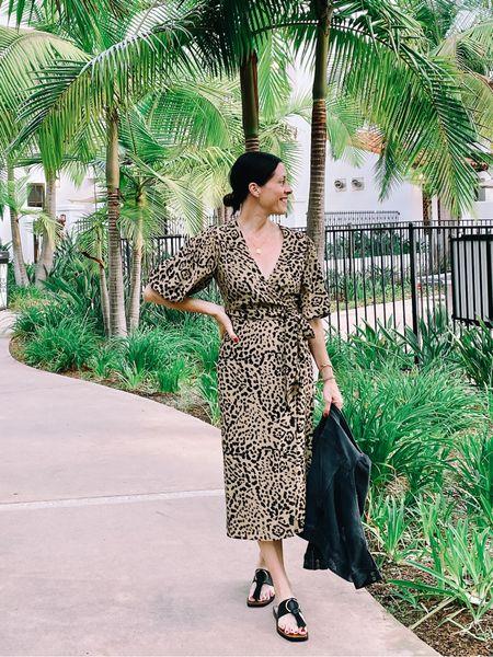 Animal peint wrap dress from @nordstrom and @frame sandals   #LTKstyletip #LTKSeasonal #LTKsalealert