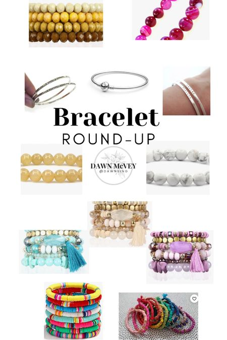 Bracelet round-up! Most of these are ones I have and wear daily, and a few of them are on my wish list! Hope the links are helpful to you! http://liketk.it/3gXdE #liketkit @liketoknow.it #LTKunder50 #bracelet #jewelry #armparty #armcandy #braceletstack