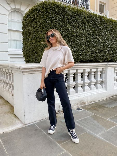 Oversized tees and dad jeans is my fave go to look! These weekday Rowe jeans never disappoint and always look so chic     #LTKeurope