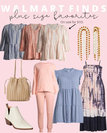 Sharing plus size fashion favorites and Walmart finds! These plus size lounge sets, plus size maxi dresses, and plus size peplum tops are all super affordable! Plus size summer and fall outfits on a budget!   #LTKsalealert #LTKcurves #LTKunder50