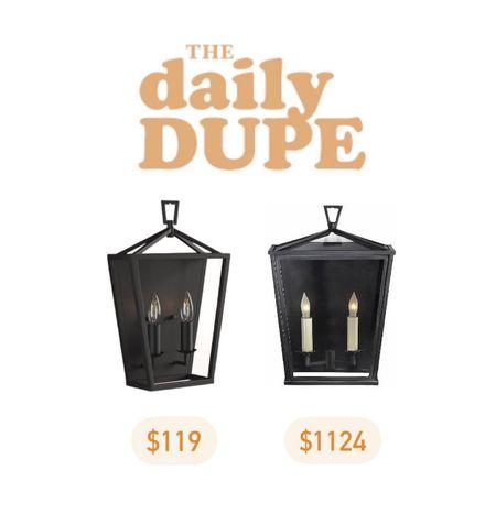 Wall Lantern, Sconce, Home Lighting, Daily Dupe, Save vs Splurge     #LTKhome
