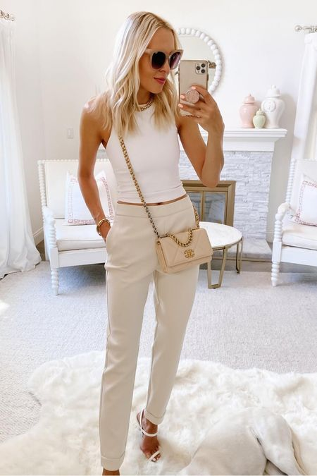 Last day to get 40% off site wide at express. This contour top and jogger suit pants are perfect versatile pieces for fall.   #LTKworkwear #LTKunder100 #LTKsalealert
