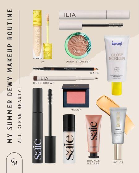 My summer makeup routine. Clean beauty. Clean mascara. Clean sunscreen   http://liketk.it/3hKJc #liketkit @liketoknow.it #LTKbeauty