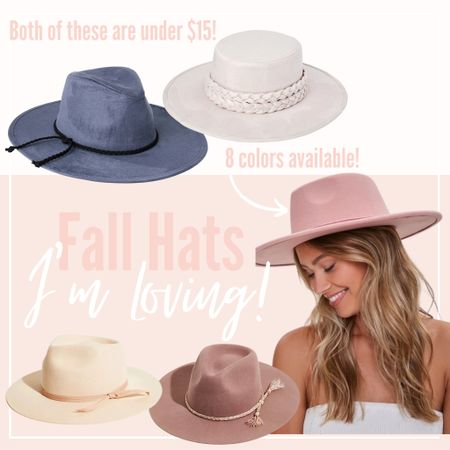 How adorable are these fall, flat brim hats, from Walmart, Forever 21, and Free People?! Loving the felt flat brims!! #fall #fallhat #hat #flatbrim #flatbrimhat #walmart #forever21 #freepeople  #LTKunder100 #LTKfit #LTKSeasonal