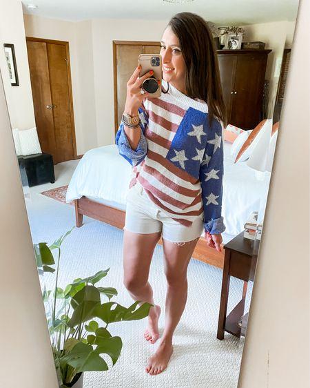 American Flag Sweater   http://liketk.it/3jSos #liketkit @liketoknow.it #LTKstyletip #LTKunder50 #LTKcurves