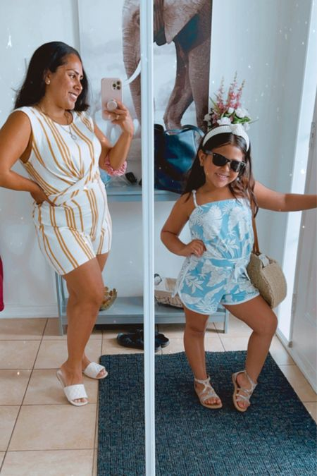 Little lady and me with our rompers ☺️  #sandals #ltksummer #sunglasses   #LTKfamily #LTKcurves #LTKSeasonal