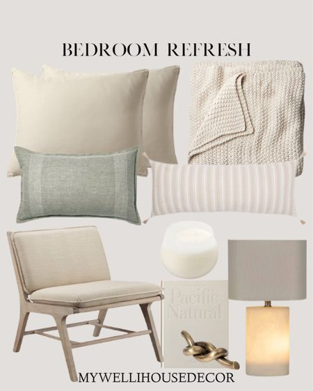 Bedroom refresh filled with lots of neutral colors and an organic feel  Modern farmhouse Bedroom with Target and more   Casa Luna target bedding and throw pillows  #LTKSeasonal #LTKhome #LTKsalealert