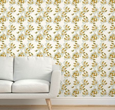 Fresh as Florida in Lightest Off White peel and stick removable wallpaper.   #LTKhome #LTKfamily #LTKstyletip