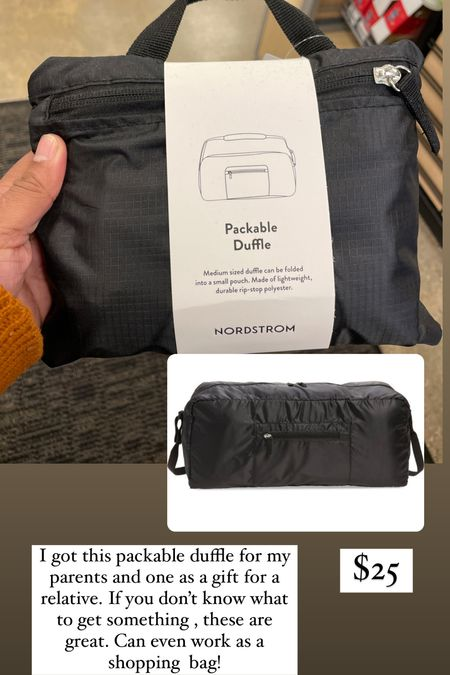 Gift ideas for travel lover, packable duffle bag  #LTKunder50 #LTKGiftGuide #LTKitbag