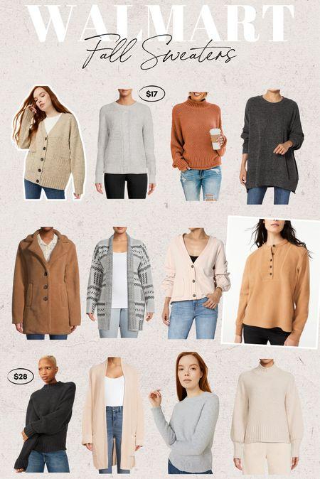 So many cute sweaters at Walmart! All under $35!!! I'm sooo ready for fall. #walmartfashion #walmart   #LTKstyletip #LTKSeasonal #LTKfamily