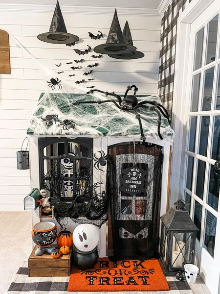 Happy October 1st, witches!  Brought out all the ghosts & goblins for  the playhouse!   #DIYPlayhouse #DIYkidkraft #kidkraftPlayhouse  #LTKHoliday #LTKhome #LTKkids