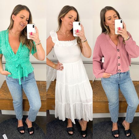Old Navy try on // budget spring and summer women's fashion // best old navy dresses // old navy mom jeans   http://liketk.it/3cezK #liketkit @liketoknow.it