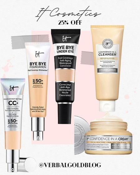 ltk sale favorites - it cosmetics sale - under eye concealer - bye bye foundation - it cosmetics concealer - eye bags concealers - makeup must haves - daily deals - beauty gifts - beauty gift guide - christmas gifts for beauty lovers - early gifting sale - full coverage - oily skin - night cream - cleansers - it cosmetics makeup - beauty sale - daily deals    #LTKGifts #LTKSale #LTKbeauty