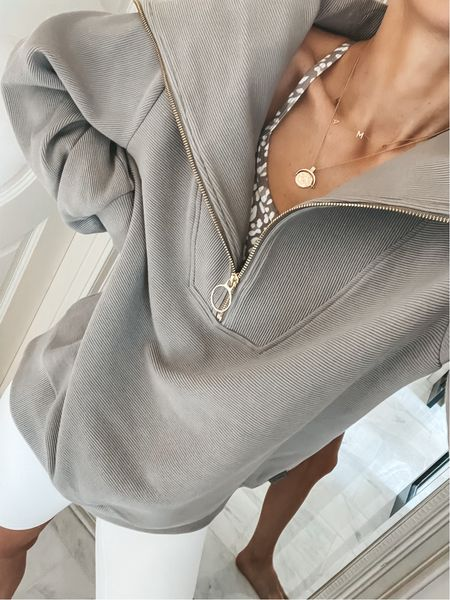 My favorite oversized half zip pullover is back in stock and in new colors for summer.