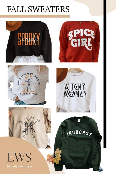 Etsy fall sweatshirts