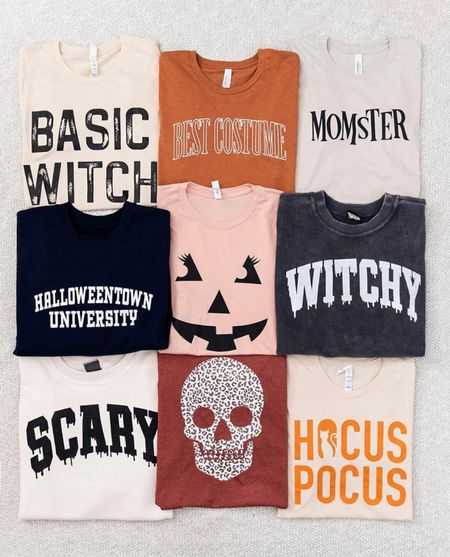 BLONDEBELLE for 20% off 🎃 . . . Halloween, graphic tee, graphic sweatshirt, fall graphic t-shirt, fall, fall outfits, Halloween shirts, pink lily boutique    #LTKSeasonal #LTKunder50 #LTKstyletip