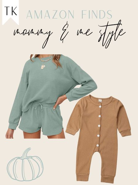 Amazon finds/ mommy & me / mommy and me style / amazon loungewear   #LTKfit