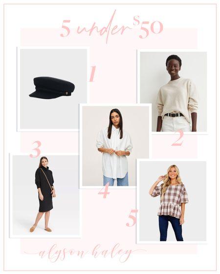 Fall staples under $50, sweater dress, gingham top   #LTKunder50 #LTKstyletip #LTKSeasonal