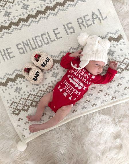 B A B Y \ Shitters full💩😂  #holiday #babyboy #christmaspajamas #christmas #pjs   #LTKHoliday #LTKbaby